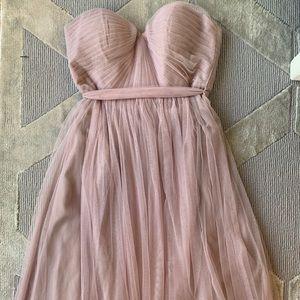 Beautiful Blush Pink Strapless Tule Dress